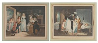 a visit to the boarding school (+ a visit to the child at nursel; 2 works after g. morland) by william ward