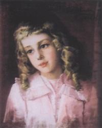 jeune fille aux cheveux blonds by anna bilinska-bohdanowicz