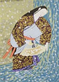 sakura-gawa, river cherry blossom by kohei morita