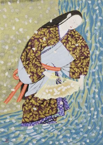 sakura gawa river cherry blossom by kohei morita