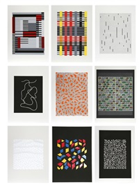 connections portfolio (9 works) by anni albers