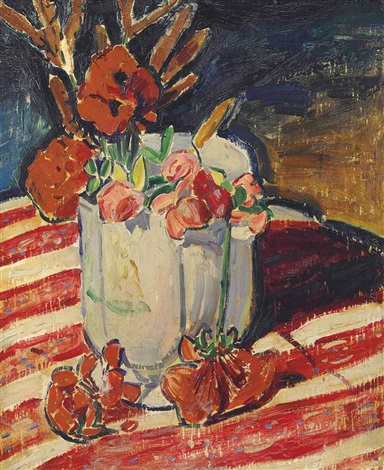 still life with flowers by alfred henry maurer