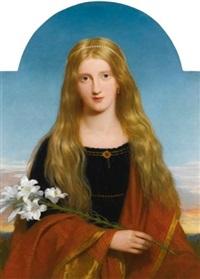 the lily - portrait of miss bury by sir charles lock eastlake