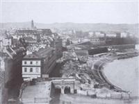 blick von der franz-josefs-kaserne auf das rotenturmtor by k.k hof-und staatsdruckerei
