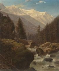mountain landscape by aleksandr vasil'evich gine