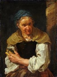 ritratto di anziana con libro by bernhard keil