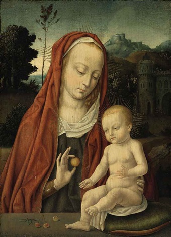 the virgin and child by hans memling