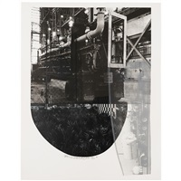 tracks (from stoned moon series) by robert rauschenberg