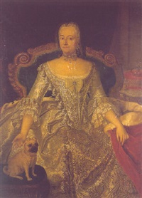 portrait of henriette marie, erbprinzessin of württemberg by georg lisiewski