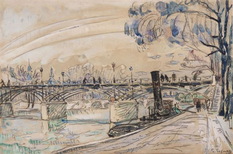 le pont des arts by paul signac