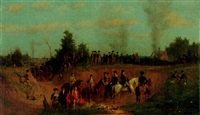 american battle scene by julian scott