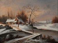 village sous la neige by johann marx