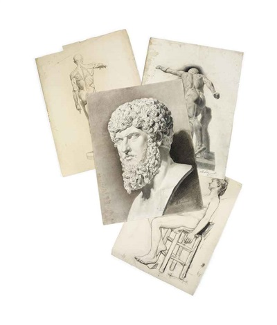 head of the roman emperor lucius verus by maria vasilevna jakunchikova