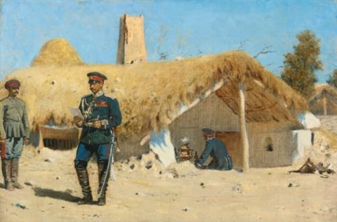 the adjutant by vasili vasilievich vereshchagin