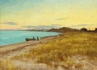 landscape from skagen by carl ludvig thilson locher