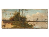 waterfront scene by karl blechen