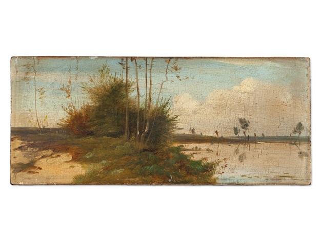 waterfront scene by carl blechen