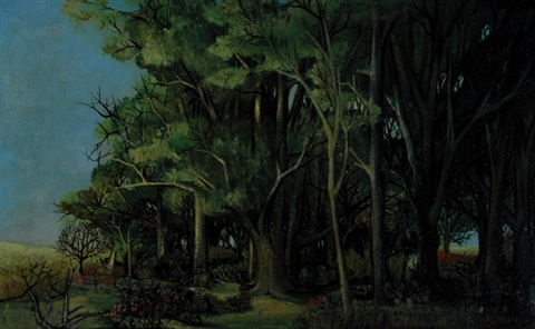 a forest setting by albert deman