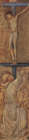 saint francis of assisi before christ on the cross by giovanni di paolo