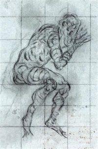 figure d'homme (recto-verso) by jacopo robusti tintoretto