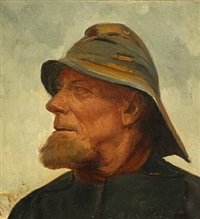 portrait of fisherman jens diget by michael peter ancher