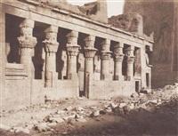 nubie: ile de fîleh (philae), temple de l'ouest - face orientale vue du point by félix teynard