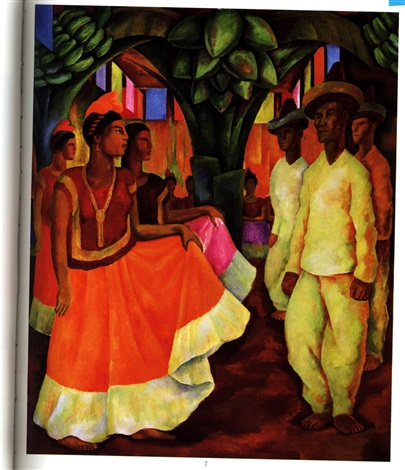 baile en tehuantepec by diego rivera