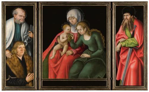 the feilitzsch altarpiece by lucas cranach the elder