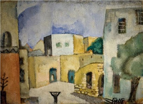 village landscape in the gallilee by arieh allweil