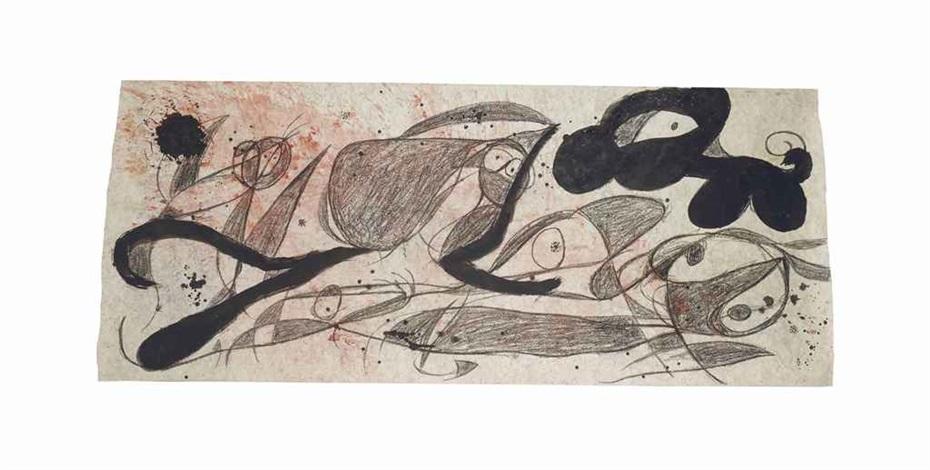 personnages oiseaux chien by joan miró