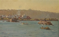 untitled - sydney harbour by charles david jones bryant