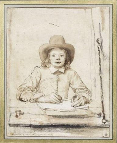 portrait de jeune homme autoportrait by samuel van hoogstraten