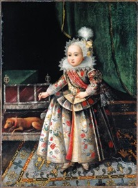 a portrait of a young girl (lady catherine hamilton?) by scottish school (18)