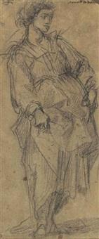 a standing female figure by giovanni battista di matteo naldini