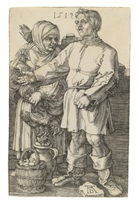 the peasant couple at market by albrecht dürer