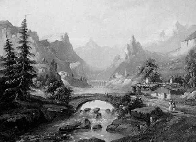 schweizer gebirgslandschaft by a gins