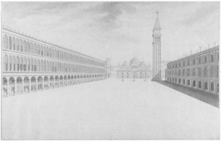 prospettiva della piazza s marco by gaetano bentivoglio ll