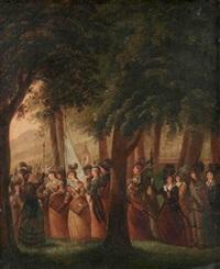 zürcherinnen auf dem lindenhof by heinrich freudweiler