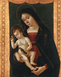 madonna and child with a goldfinch by romano antoniazzo