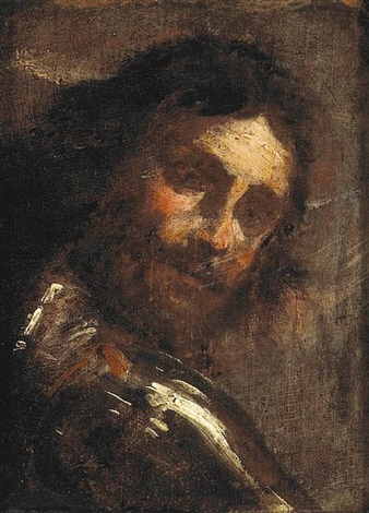 a man looking over his shoulder (study) by gian lorenzo bernini
