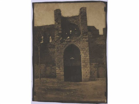 porte saint michel prise du cimetière cahors lot from mission héliographique by gustave le gray and auguste mestral