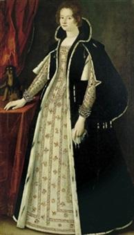 ritratto di dama con il suo cagnolino by scipione pulzone