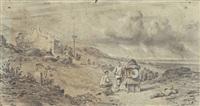 paysage animé en chine by auguste borget