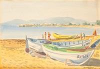 łodzie na plaży by kazimierz podsadecki
