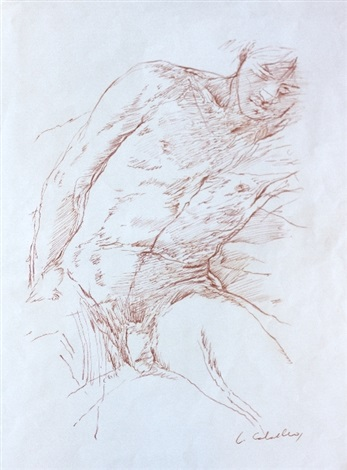 study for a nude by luis caballero