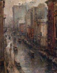 rainy evening, new york by alfred s. mira