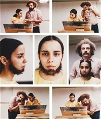 untitled (facial hair transplants) (7 works) by ana mendieta