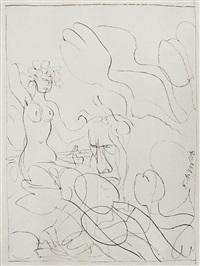skizze zu tulpenmädchen ii by fritz aigner