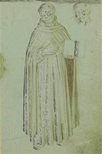 a dominican friar, with a subsidiary study of his head by fra angelico