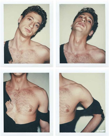 man in black tank 4 works by andy warhol